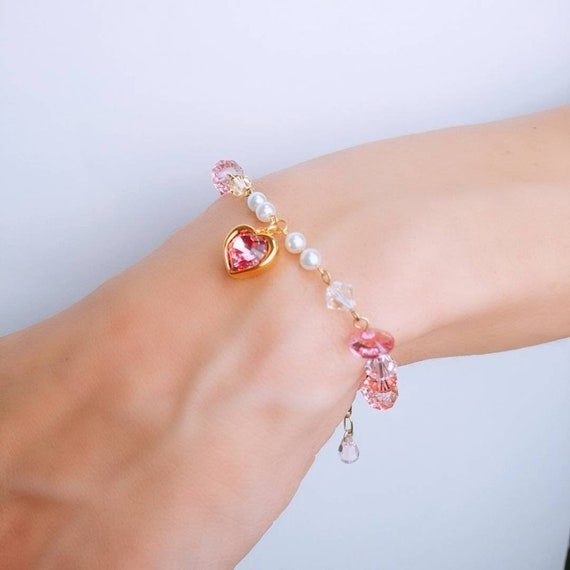4dd897b3c Magical Spring Bracelet Heart & Moon Options Spring Gift | Etsy