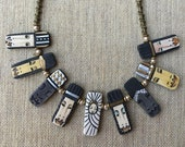 Nativity Necklace, Christmas Holy Family and Wise Men Jewelry