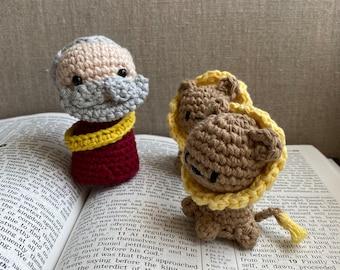Daniel in the Lion's Den - Bible Figures in Yarn