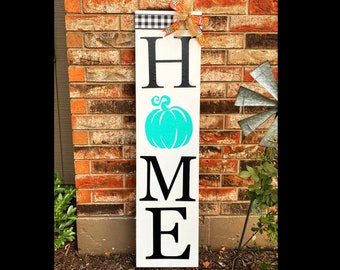 Fall Decor, Fall Porch Sign, Home Sign, Standing Outdoor Welcome Sign, Pumpkin Buffalo Check Decor, Autumn Decorations, Sign by Door