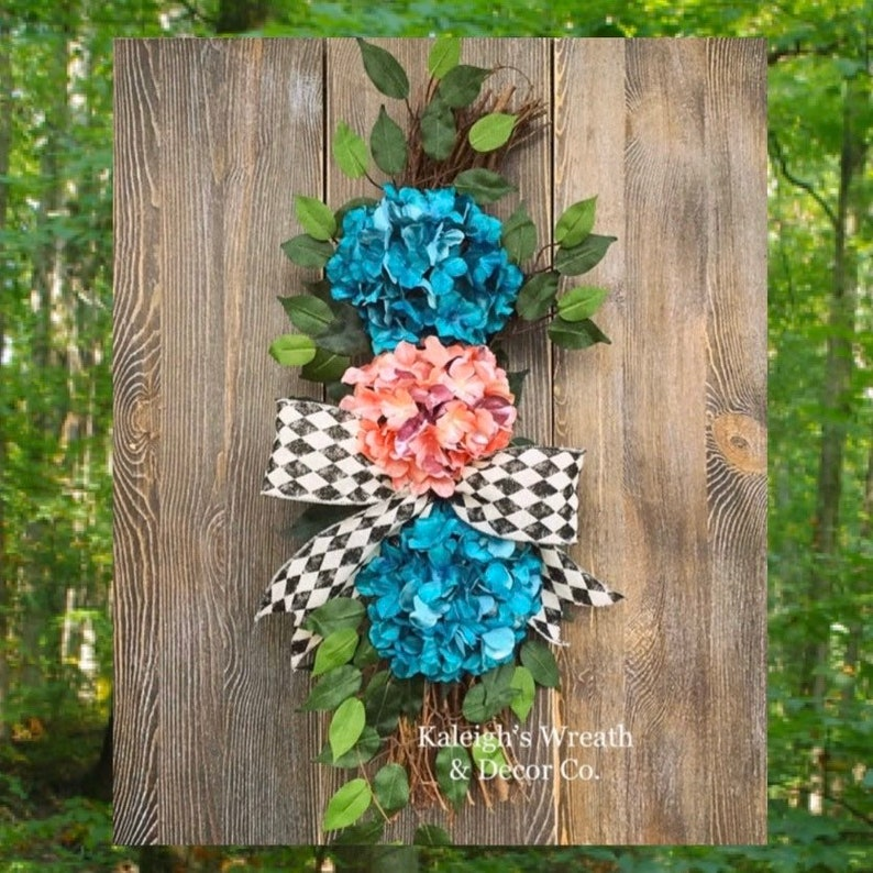 Everyday Wreath Hydrangea Wreaths Country Shabby Chic image 0
