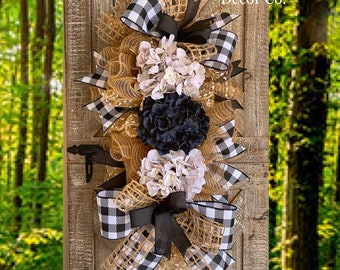 Hydrangea Wreath for Front Door, Spring Hydrangea Wreath, Front Door Wreath, Spring Wreath, Wreath for Door, Housewarming Gift, Buffalo