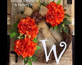 Fall wreath monogram, Fall Decor, Fall Wreath, fall wreaths for front door, fall wreath with pumpkins, fall wreaths for front door monogram