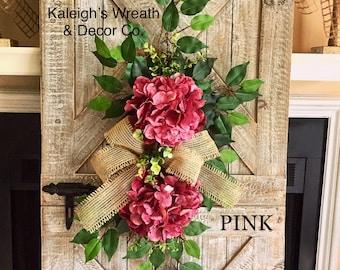 HYDRANGEA Wreath, Spring Wreaths, Hydrangeas, Spring Wreath for Door, Everyday, Year Round, All Season, Wreaths, Burlap Wreath, Housewarming