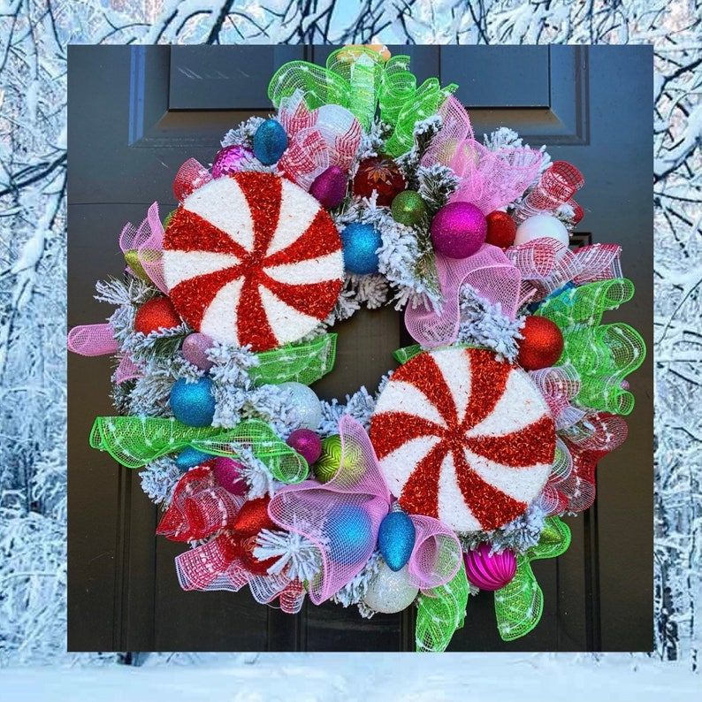 Christmas Wreath for Front Door Ornament Wreaths Christmas image 0
