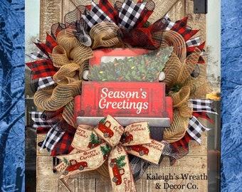 Christmas Truck Wreath