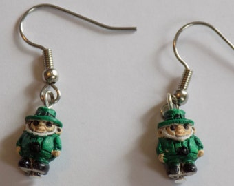 Leprechaun, Sitting Gnome, Russian Nesting Doll, Bride & Groom and Emojicon Smiley Face (2) Earrings - 6 Different Styles to Choose From