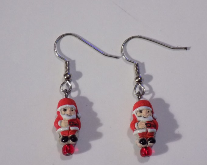 Holiday & Christmas Earrings - Santa Claus - Round Santa Claus - Christmas Tree - Nutcracker - Snowman - 5 Styles to Choose From