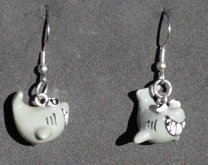 Shark Earrings - Smiling Sharks - Ceramic Sharks - 2 Different Styles to Choose From