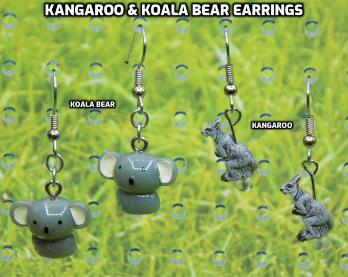 Kangaroo & Koala Bear Earrings