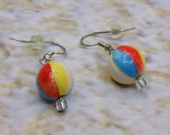 Beach Earrings - Beach Balls - Beach Umbrellas - Hula Girls - Palm Trees