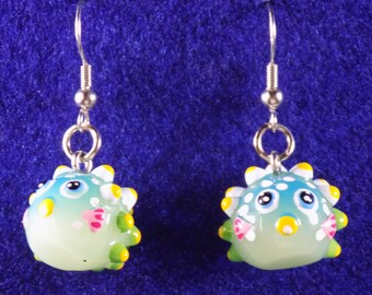 "Fish Earrings - Blow Fish ""Glow in the Dark"" - Orange Koi Fishes - Blue Fishes - Orange Fishes - 4 Different Styles to Choose From"