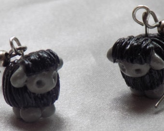 Sheep & Llama 3D Earrings - Black Sheep - White Sheep - White and Black Sheep - Brown Llamas - Gray Llamas - 5 Different Styles