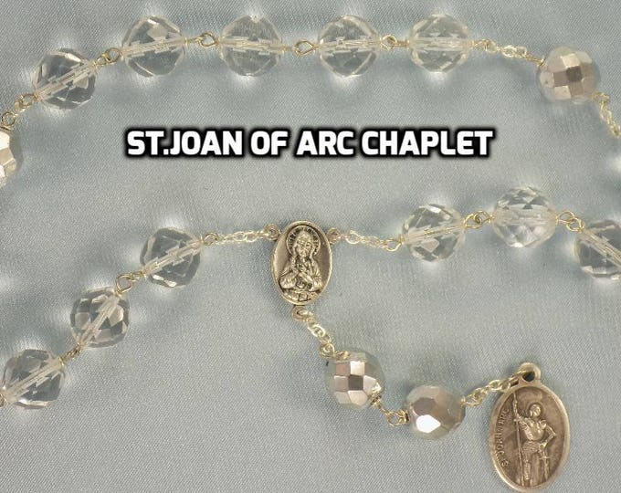 Devotional Prayer Chaplets - St. Joan of Arc - St. Peregrine (3 Styles) - Our Lady of Mercy - Our Lady of Charity