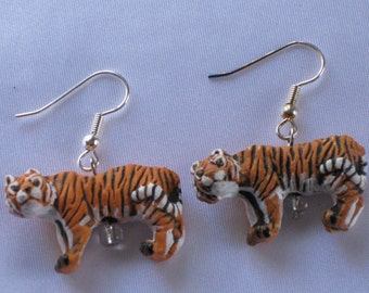 Bengal Tiger 3D Earrings - 2 Sizes