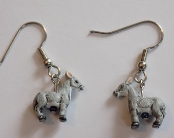 Donkey and Horse Earrings - Donkeys - Brown Horses - Red Horses - Green Horses - Yellow Horses - 5 Styles to Choose