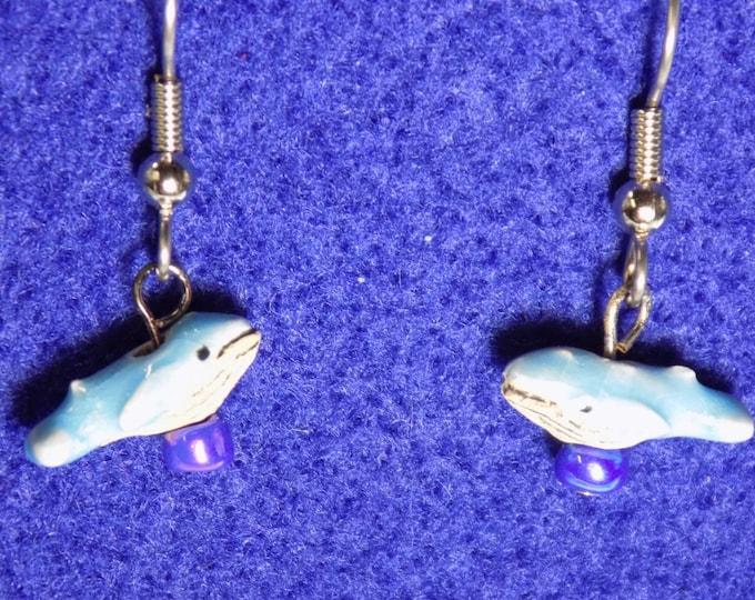 Whale Earrings - Blue Whales - Baby Blue Whales - Orca (Shamu) Whales - Beluga Whales  - 4 Different Whales to Choose From