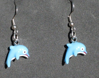"Dolphin Earrings - Light Blue - Aqua ""Glow in the Dark"" - Green ""Glow in the Dark"" - Gray - Dark Blue - 5 Different Styles to Choose From"