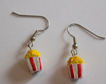 Snack Earrings - Popcorn - Pretzels (2 Sizes) - 3 Styles to Choose From