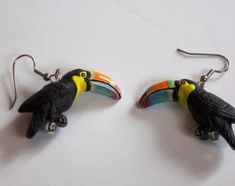 Bird Earrings - Toucan (2 Sizes) - Parrot - Peacock - Bald Eagle (2 Sizes) - 4 Different Birds to Choose From