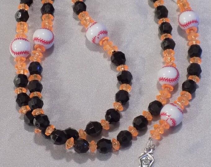 Baseball Sports Rosaries - Black and Orange - Blue, Orange and White - Orange and Blue - Baseball Team Colors