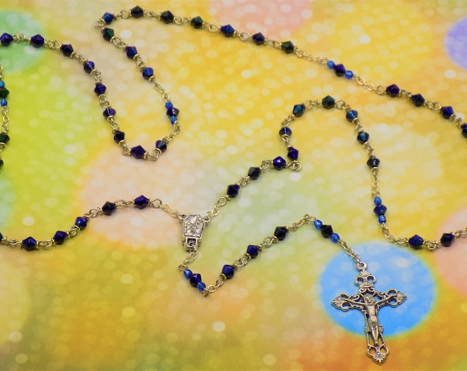 Mood Bead Rosary - Thermo-Sensitive Liquid Crystal Changing Color Beads - Czech Beads - Water from Lourdes Center - Italian Crucifix