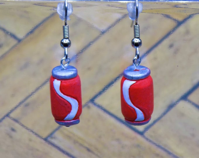 Snack Earrings - Coke Pop Can - Popcorn - Pretzels (2 Sizes)