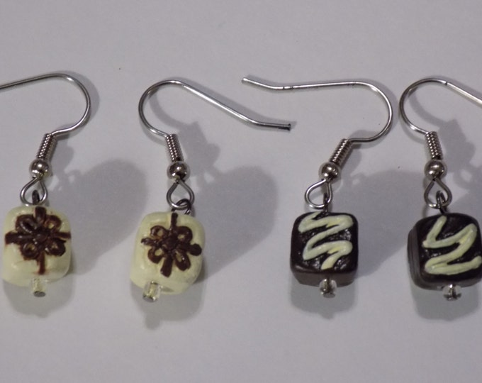 Candy and Cookie Earrings - White & Dark Chocolates - Fortune Cookies (2 Sizes) - Oreo Cookies - Chocolate Chip Cookies