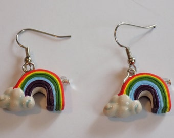Rainbow & Clouds (2 Sizes) - Hot Air Balloons - 3 Styles to Choose From