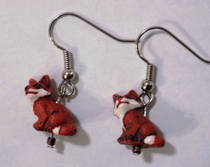 Fox & Wolf 3D Earrings - Fox Ceramic Earrings - Wolf Ceramic Earrings