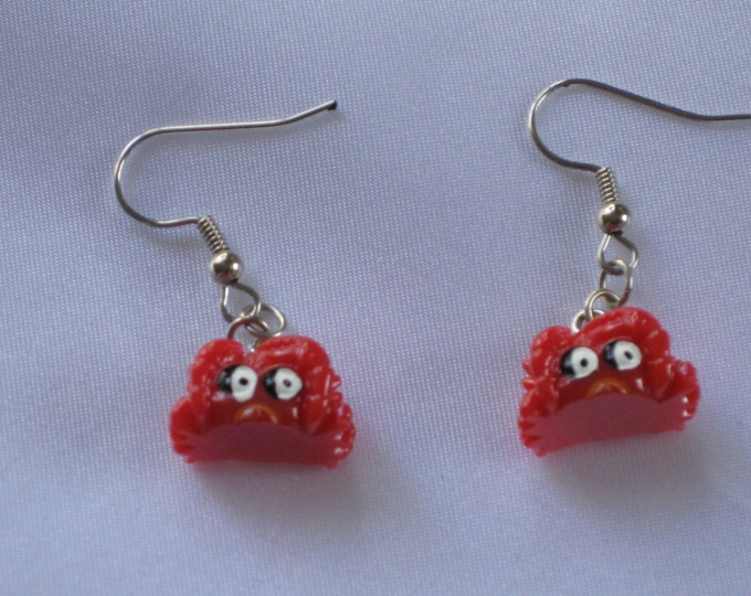 Crab Earrings - Red Crab with Eyes - Sea Crabs - Ceramic Crabs - 3 Different Styles to Choose From