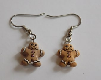 Gingerbread Earrings - Light Gingerbread Man - Dark Gingerbread Man - Gingerbread House - 3 Styles to Choose From