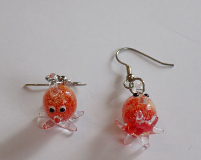 """Octopus Earrings - Red """"Glow in the Dark"""" Octopus' - Gray Octopus' - Yellow Octopus' - 3 Different Styles & Colors to Choose From"""
