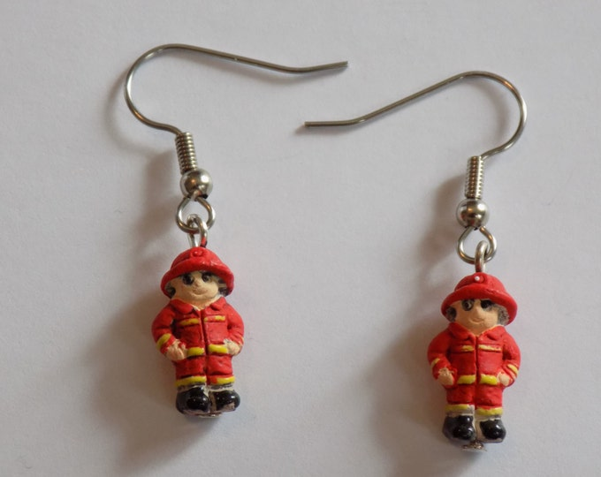 Chef, Fireman, Fire Engine, Police Officer and Handcuffs Earrings