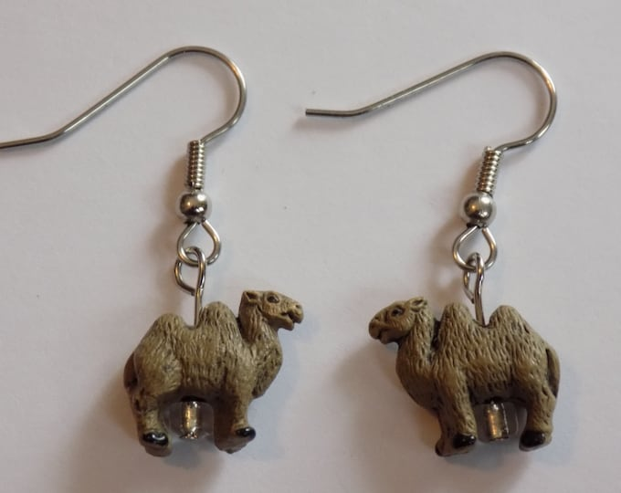 Camel and Llama Earrings - Camel Ceramic Earrings - Llama Ceramic Earrings