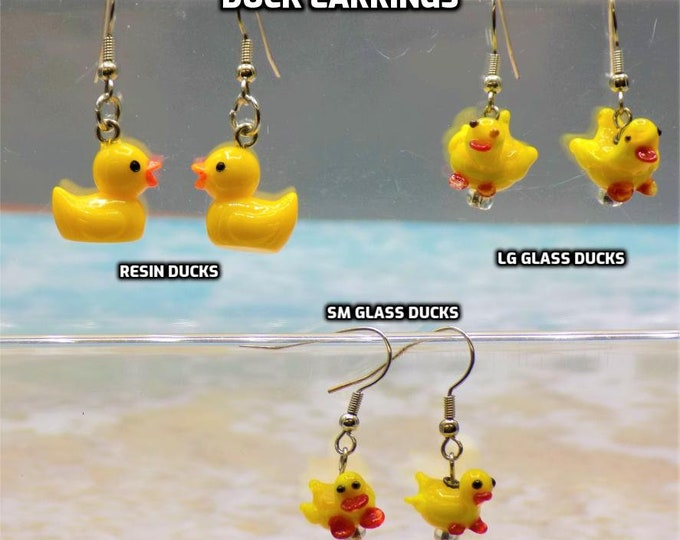 Duck Earrings - 3 Different to Choose From