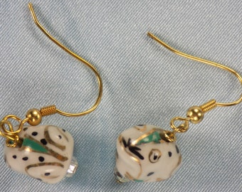 Frog Earrings - White & Gold Frogs - Yellow Frogs - Pink Frogs - Purple Frogs - 4 Different to Choose From
