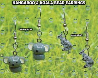 Kangaroo & Koala Bear Earrings