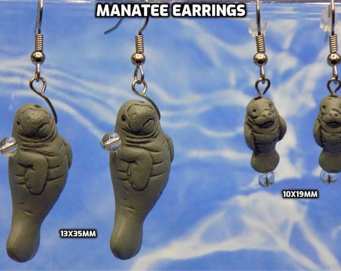 Manatee Earrings - 2 Sizes