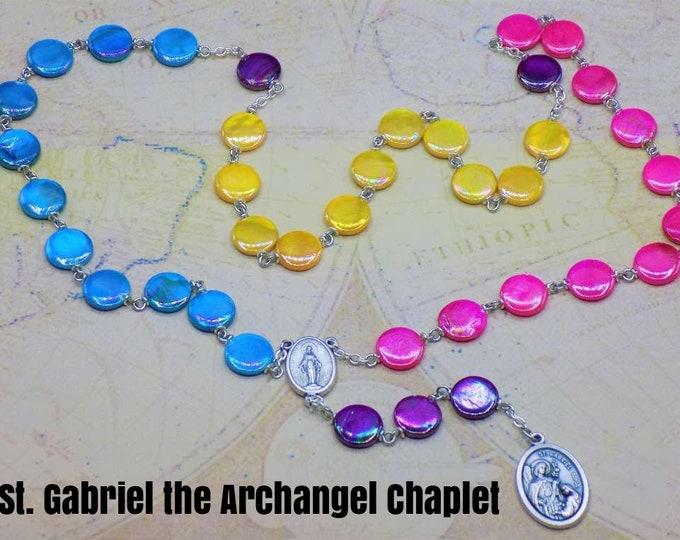 Prayer Chaplets - St. Gabriel Archangel - Lady of Medjugorje -St. Monica (2)- St Michael (2) -St Catherine -Good Shepherd -Our Lady of Snows
