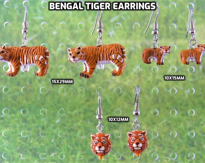 Bengal Tiger 3D Earrings - 3 Styles