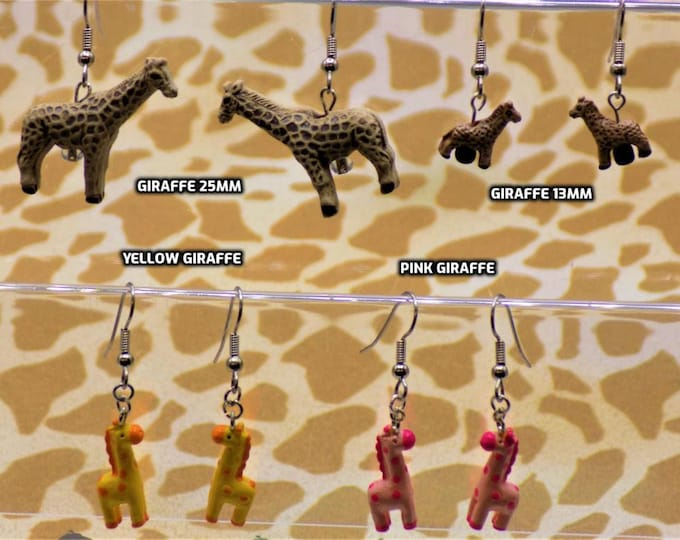 Giraffe Earrings (4 Styles)