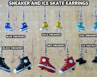 Sneaker & Ice Skate Earrings - Sneakers (5 Colors) - Ice Skates - 6 Styles to Choose From