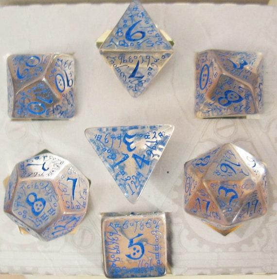 Elvish Dice Transparent//Blue 7