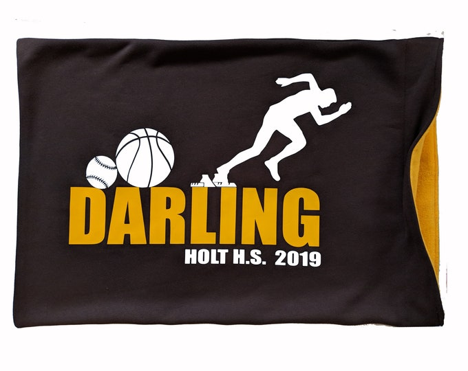 Multi-sport personalized pillowcase for athlete