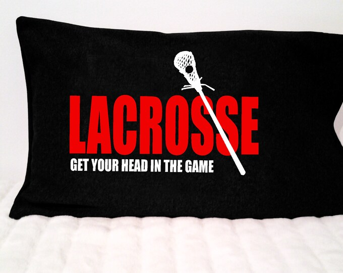 Lacrosse pillowcase; lax gift; lacrosse bedding