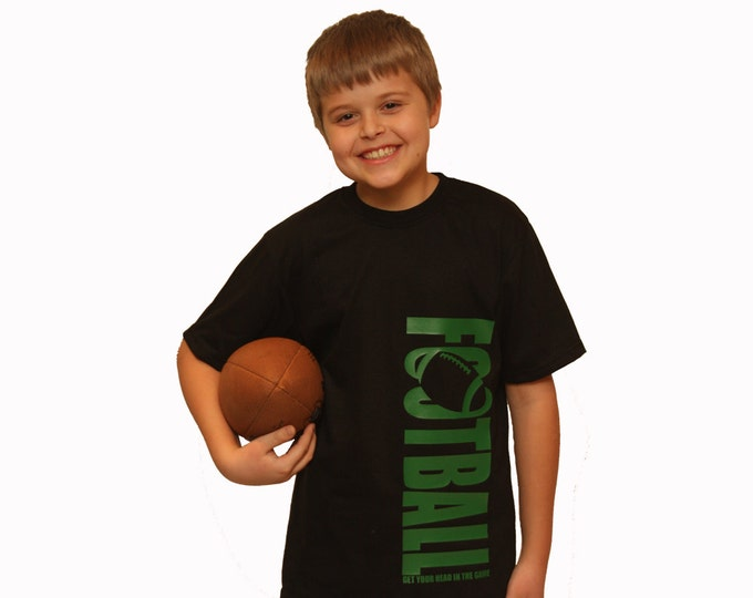 Football t-shirt; personalized football gift; boy's t-shirt; youth football tee