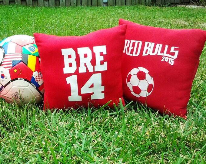 Soccer team gifts, personalized soccer pillow, soccer girl, soccer boy