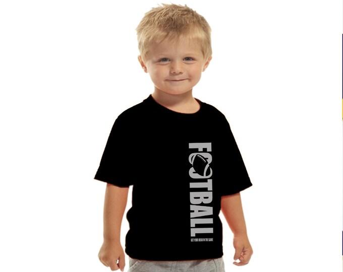 Toddler football t-shirt; boy's t-shirt; personalized football t-shirt
