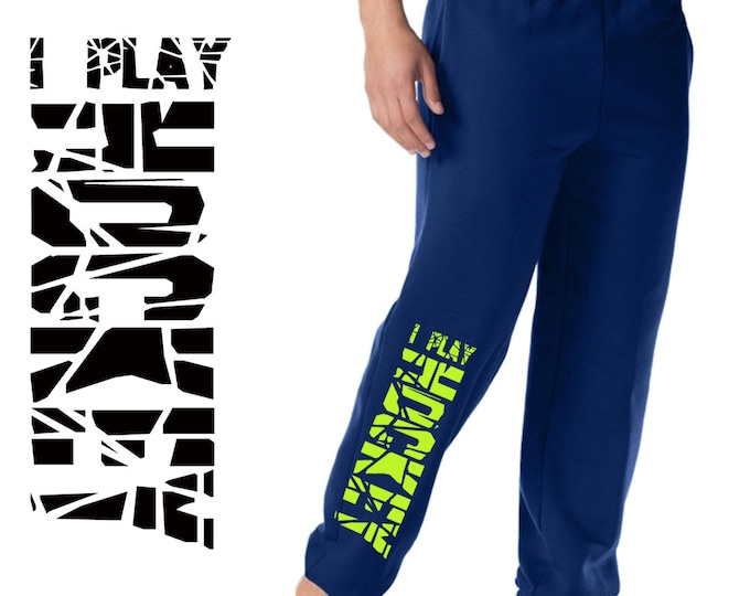 Sweatpants for hockey players, boys sweatpants with pockets